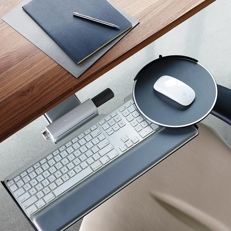 Ergonomic Adjustable Keyboard Tray Top View